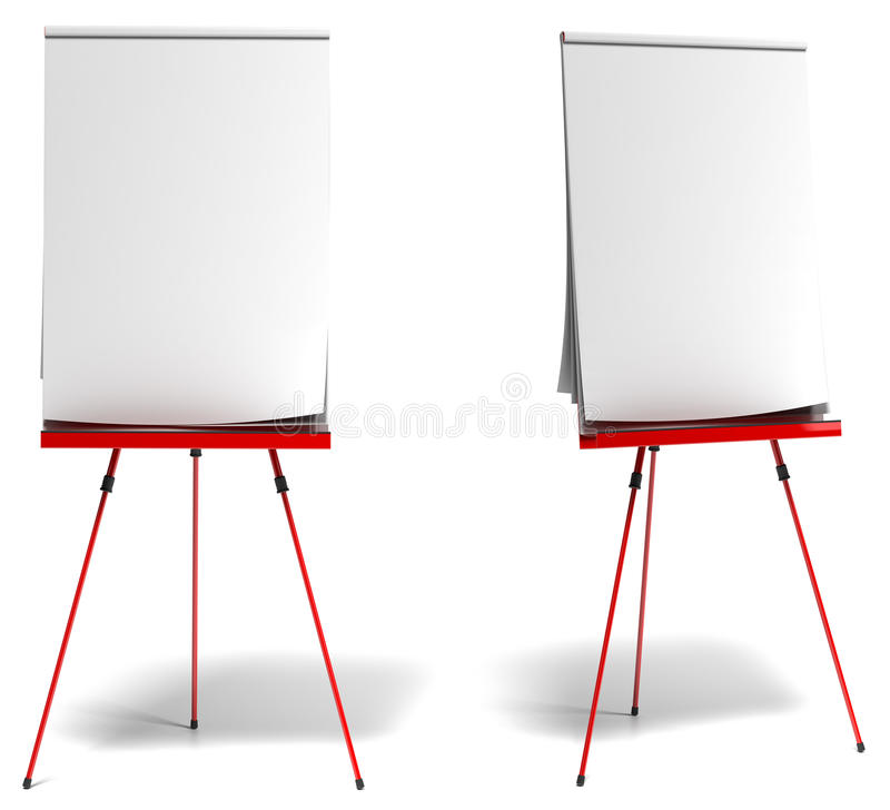Rotes Training flipchart stock abbildung