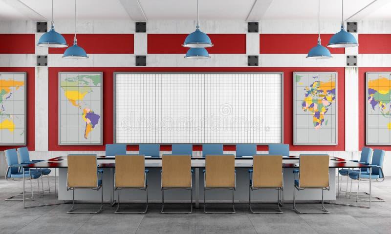 Rotes und blaues Konferenzzimmer vektor abbildung
