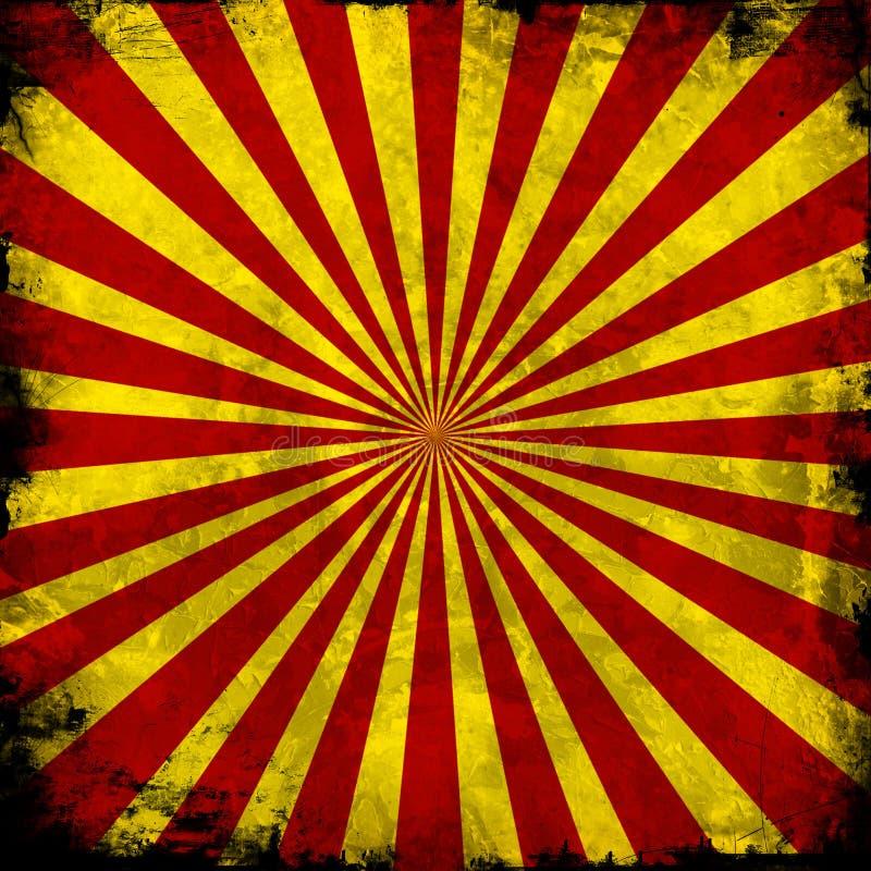 Rotes und gelbes Muster lizenzfreie abbildung