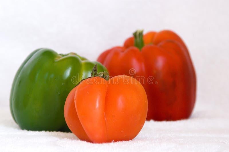 Rotes und grünes Gemüse lizenzfreie stockbilder