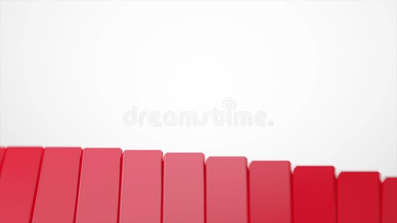 Rotes und weißes geometrisches Technologiezusammenfassungs-Bewegungsdesign ablage Moderner Hintergrund von roten glatten Pyramide lizenzfreie abbildung