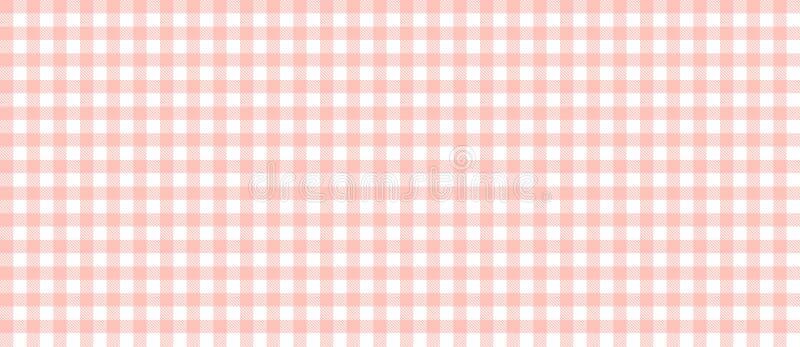 Rotes und weißes kariertes Tischdeckenmuster stockfotografie