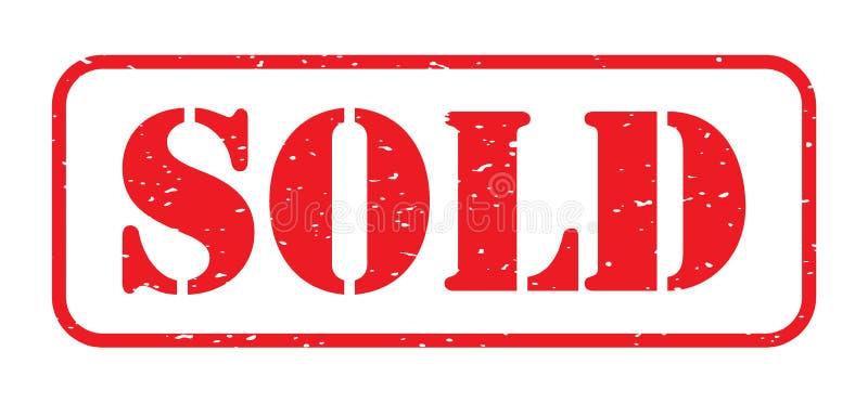 Rotes Verkaufsstempellogo stock abbildung
