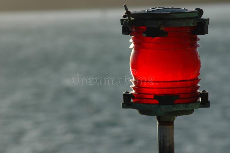 Rotes warnendes Leuchtfeuer lizenzfreie stockfotografie