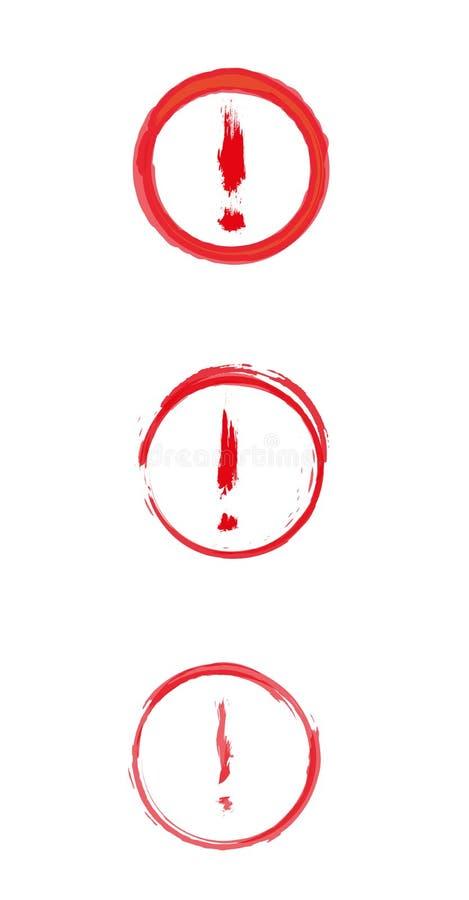 Rotes Warnschild mit Ausrufezeichen lizenzfreie abbildung