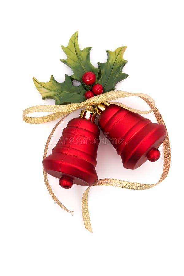 Rotes Weihnachten Bell stockfotos