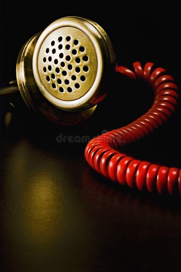 Rotes Weinlesetelefon stockfotos