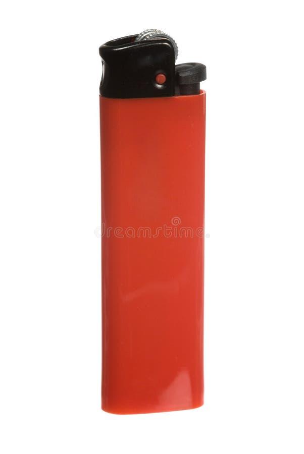 Rotes Zigarettenfeuerzeug stockfotos