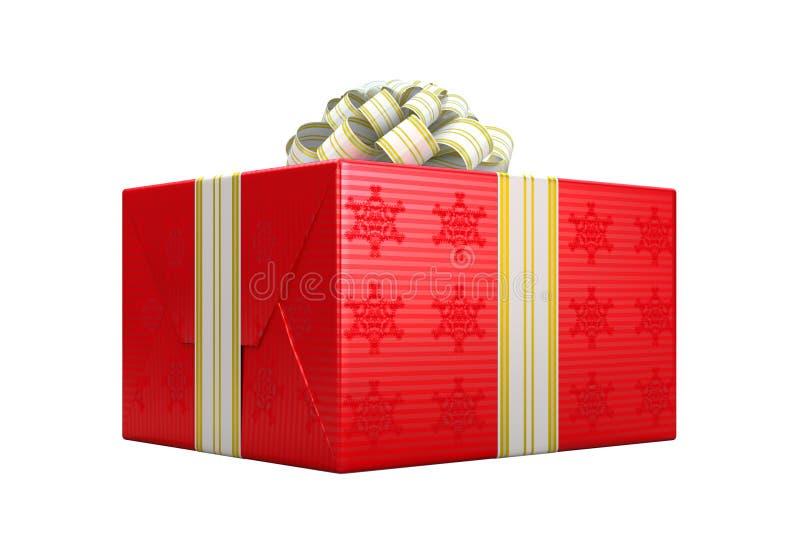Rotgeschenk oder Geschenkkasten mit Bogen stock abbildung