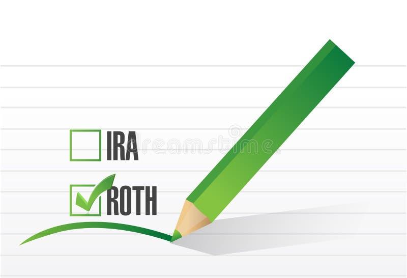 roth清单选择例证 库存例证