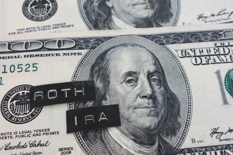 Roth IRA-Aufkleber lizenzfreie stockfotos