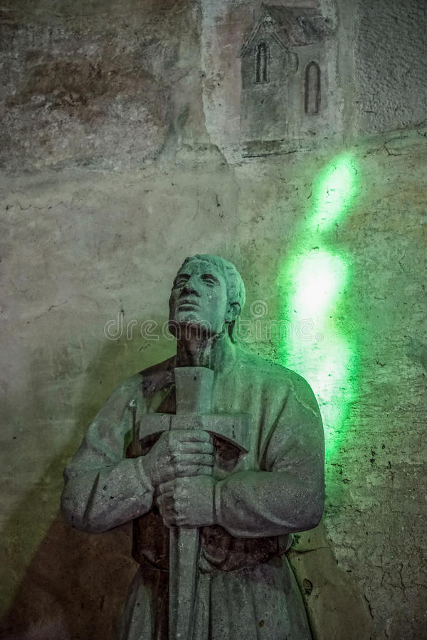 ROTHENBURG, GERMANY/EUROPE - 9月26日:在城堡的雕象 图库摄影