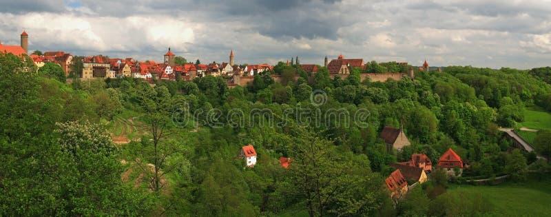 rothenburg панорамы стоковые изображения