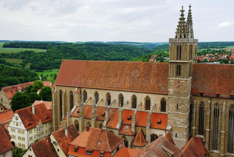 Download Rothenburg stock photo. Image of bridge, buildings, churches - 25304596