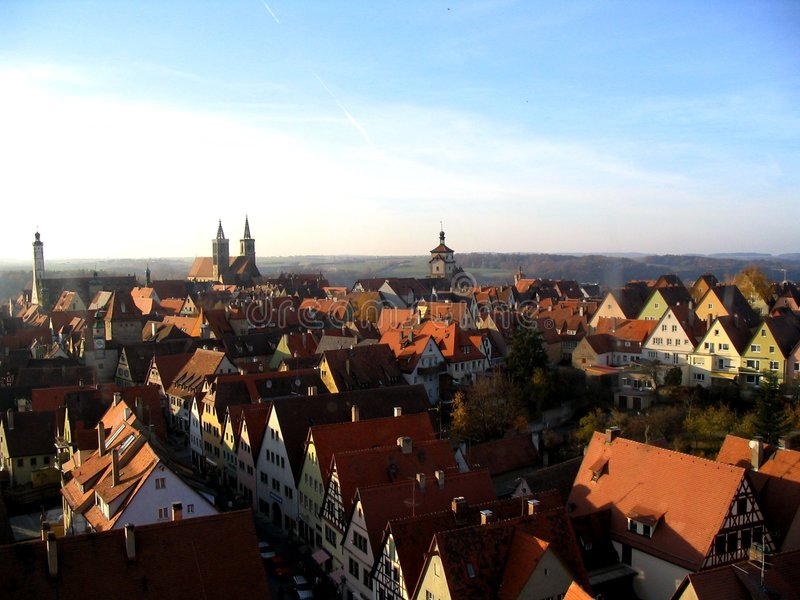Download Rothenburg City View stock image. Image of germany, europe - 106955