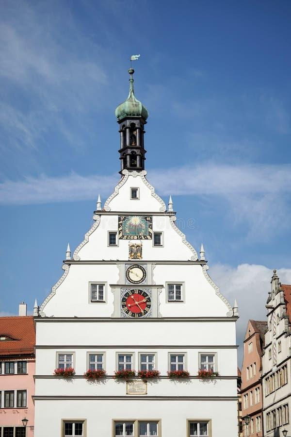 ROTHENBURG, GERMANY/EUROPE - 26 SEPTEMBER: Oude klokketoren in R royalty-vrije stock foto's