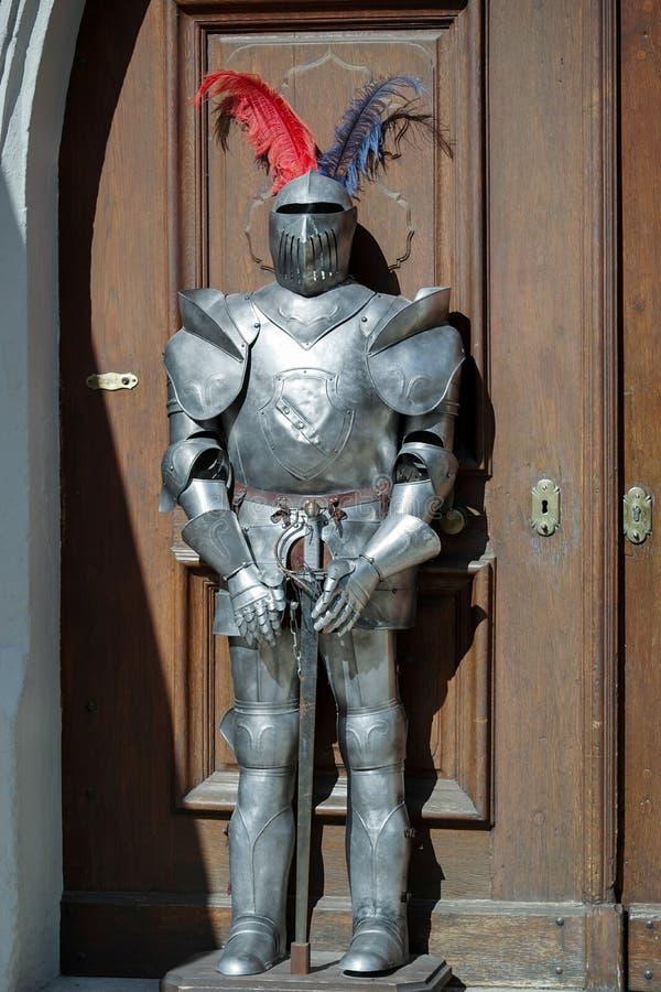 ROTHENBURG, GERMANY/EUROPE - 26 SEPTEMBER: Replica van een knight royalty-vrije stock afbeelding