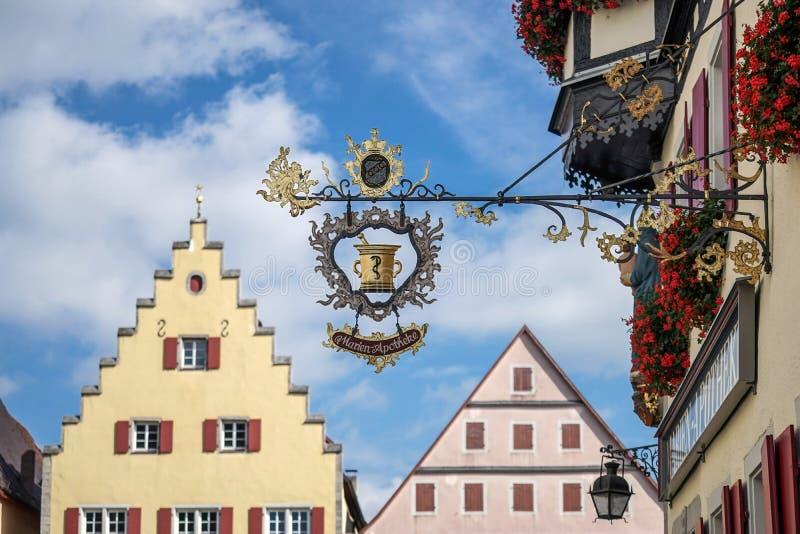 ROTHENBURG, GERMANY/EUROPE - 26 SEPTEMBRE : Coup de Marien-Apotheke photos stock