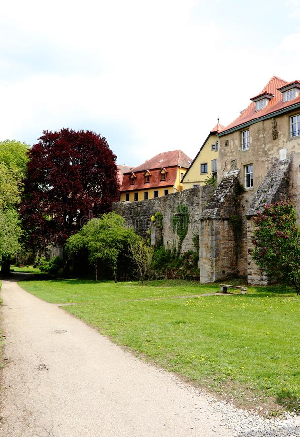 Rothenburg ob der Tauber από το εξωτερικό στοκ φωτογραφία με δικαίωμα ελεύθερης χρήσης