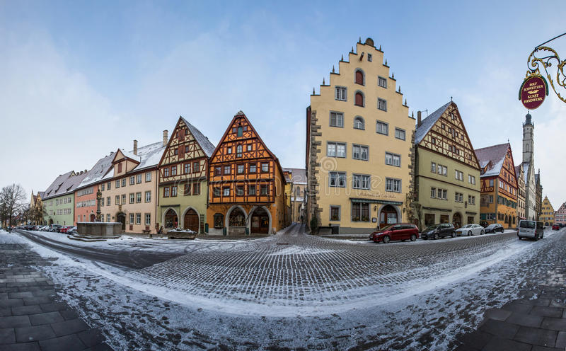 Rothenburg ob der Tauber, Γερμανία - μεσαιωνικά κτήρια ΙΙ στοκ φωτογραφίες