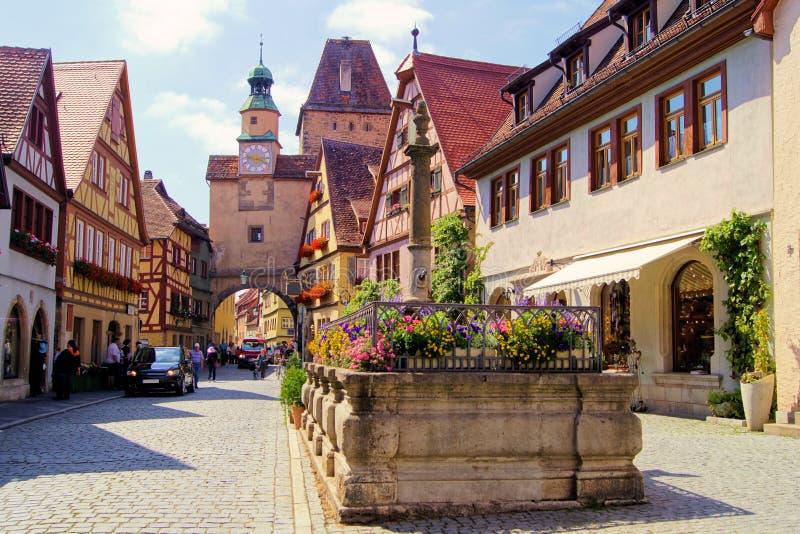 Download Rothenburg ob der Tauber stock image. Image of german - 24390485