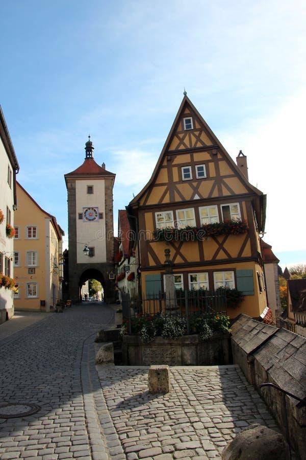 Download Rothenburg ob der Tauber redactionele foto. Afbeelding bestaande uit cobblestone - 29501011