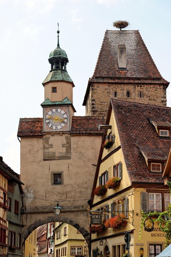 Rothenburg Ob Der Tauber Bavaria Germany Editorial