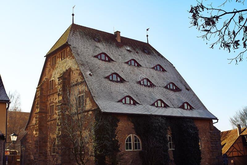 Rothenburg ob der Tauber at christmastime stock photo