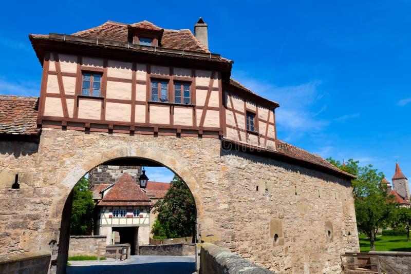 Rothenburg ob der Tauber, Germany. City gate in Rothenburg ob der Tauber, Bavaria stock images
