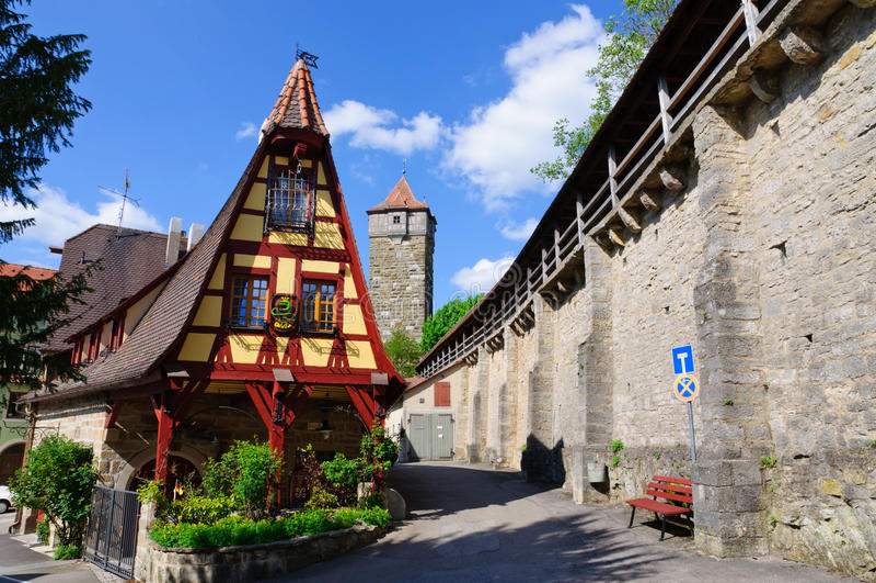 Rothenburg ob der Tauber, Germany royalty free stock photos