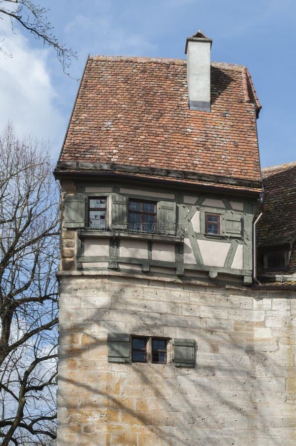 Rothenburg ob dera Tauber historyczny, średniowieczni miasteczko i, Niemcy, fotografia stock