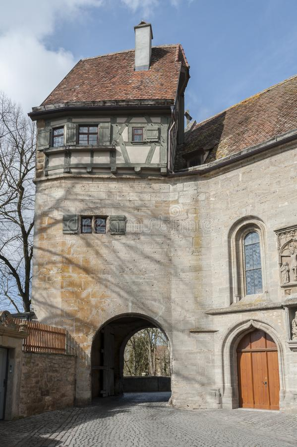 Rothenburg ob dera Tauber historyczny, średniowieczni miasteczko i, Niemcy, zdjęcia stock