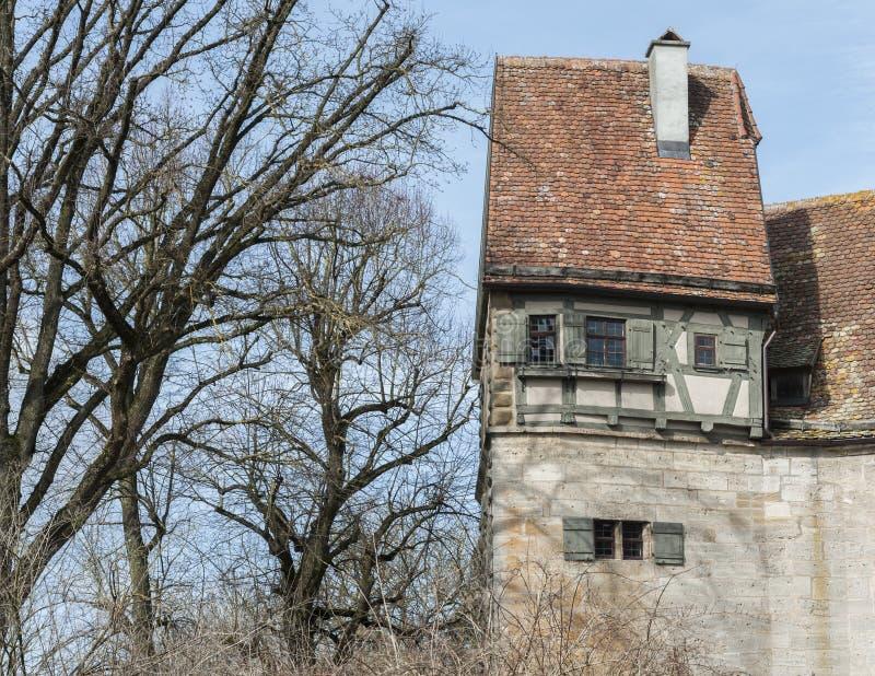 Rothenburg ob dera Tauber historyczny, średniowieczni miasteczko i, Niemcy, zdjęcie stock