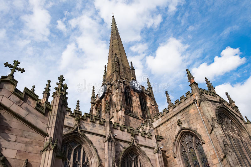 Rotherham Minster. A reminder of how Rotherham was once an affluent industrial city royalty free stock photography