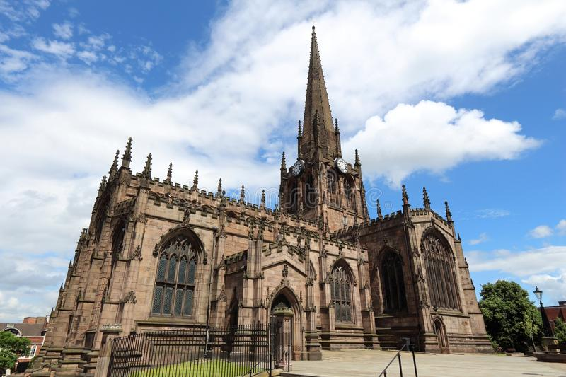 Rotherham Minster. Rotherham, town in South Yorkshire, England. Rotherham Minster (All Saints Church), Gothic architecture royalty free stock photos