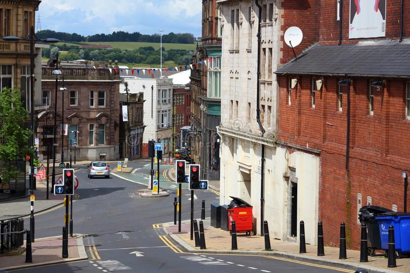 Rotherham UK. ROTHERHAM, UK - JULY 10, 2016: Street view in Rotherham, UK. Rotherham is a large town in South Yorkshire with population of 109,691 people stock photos