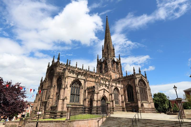 Rotherham UK. Rotherham, town in South Yorkshire, UK. Rotherham Minster (All Saints Church), Gothic architecture stock images