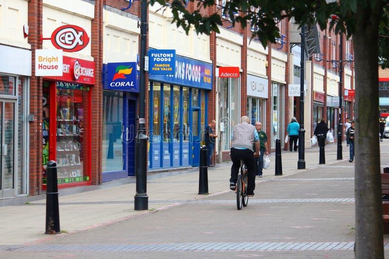 Rotherham zakupy ulica zdjęcia royalty free