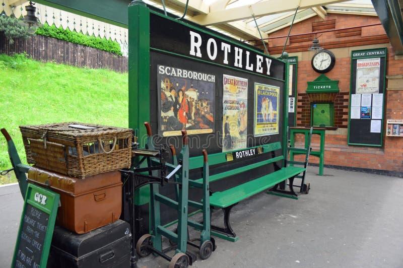 Rothley驻地平台和售票处 免版税图库摄影