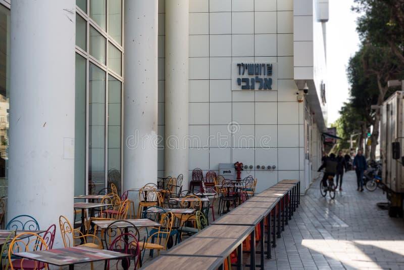 Rothschild Allenby marknad i Tel Aviv royaltyfri fotografi