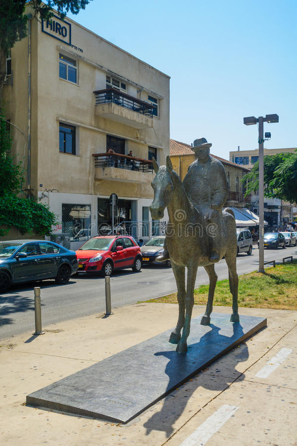 Rothschild boulevard, Tel Aviv royaltyfria foton