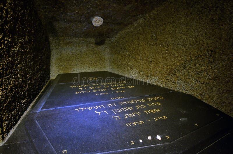 Rothschild rodzinny grobowiec w Ramat Hanadiv w Zikhron Yaakov Izrael fotografia stock