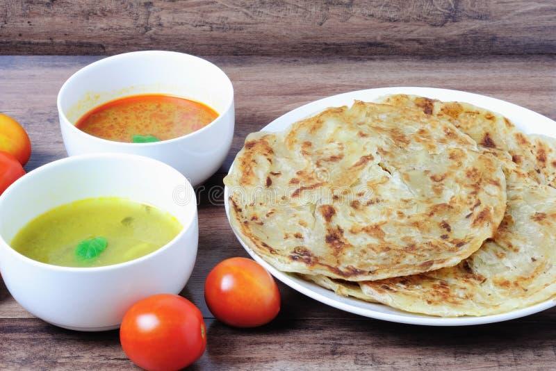 Roti canai Prata lub roti zdjęcie stock