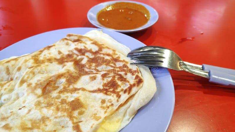 Roti canai z curry'ego kumberlandem zdjęcie stock