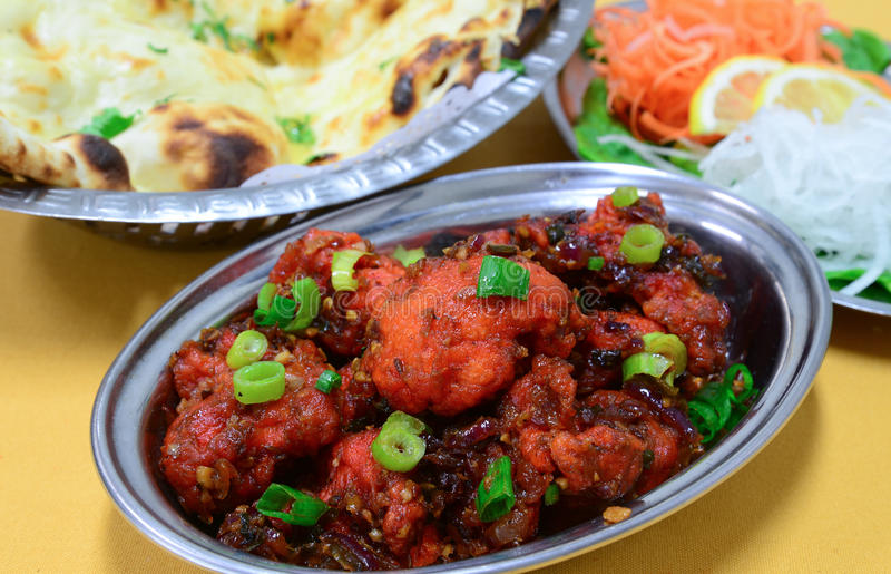 Manchurian with Naan bread royalty free stock photography