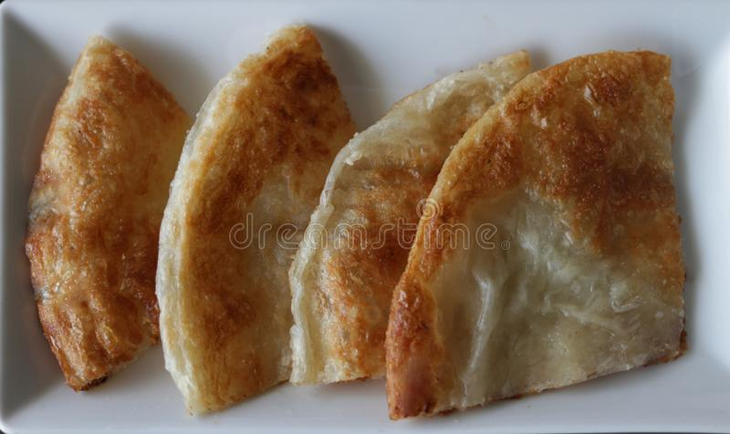 Roti or fried starch flat food in India stock photography