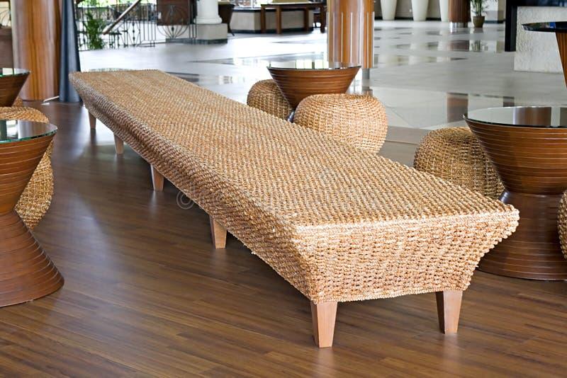 Rotin et meubles de jute photo libre de droits