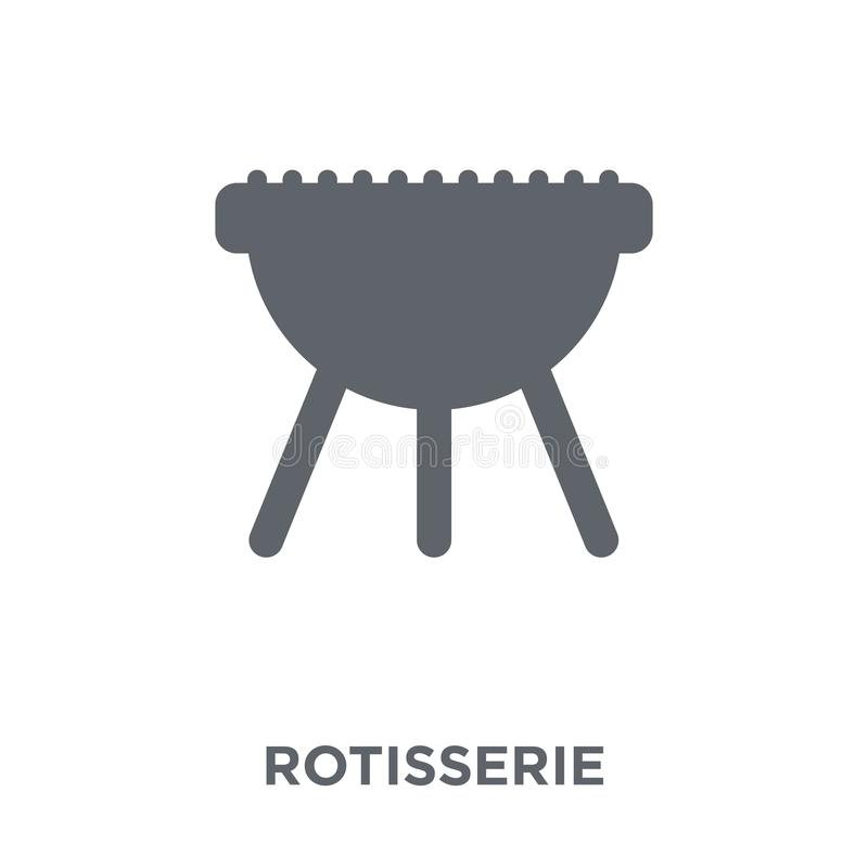 rotisserie εικονίδιο από τη συλλογή ηλεκτρονικών συσκευών διανυσματική απεικόνιση