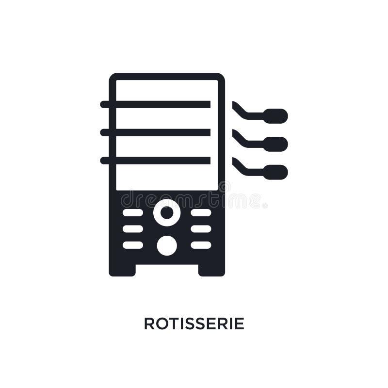 rotisserie geïsoleerd pictogram eenvoudige elementenillustratie van de elektronische pictogrammen van het apparatenconcept rotiss vector illustratie