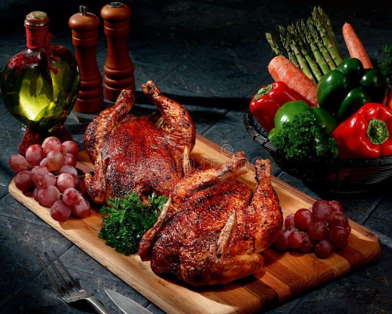Rotisserie-Huhn stockbilder